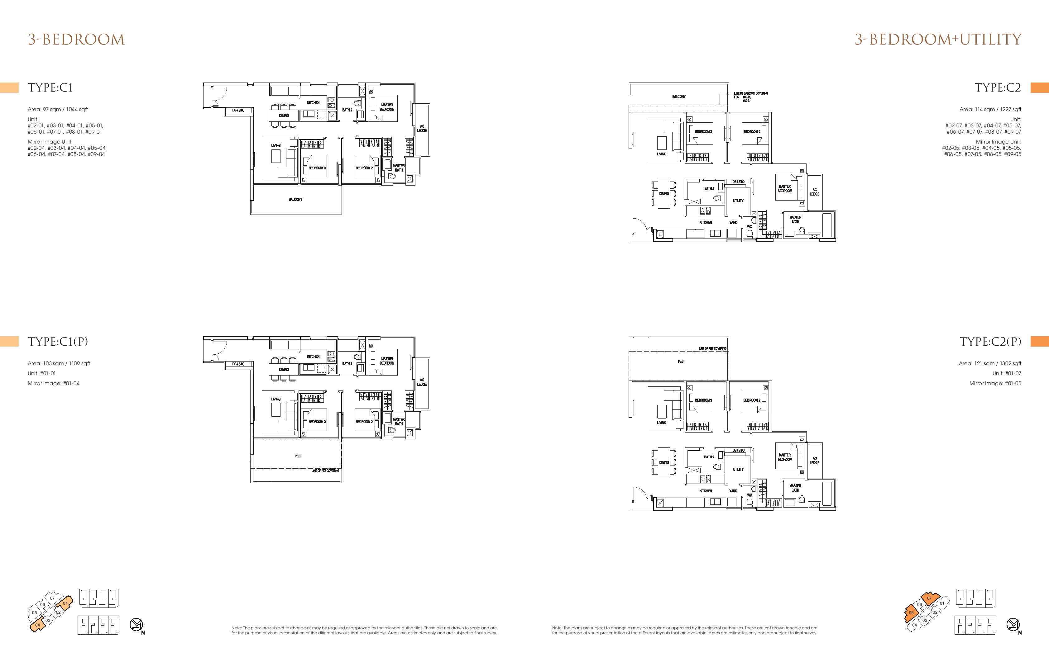 Goodwood Grand 3 Bedroom Floor Plans