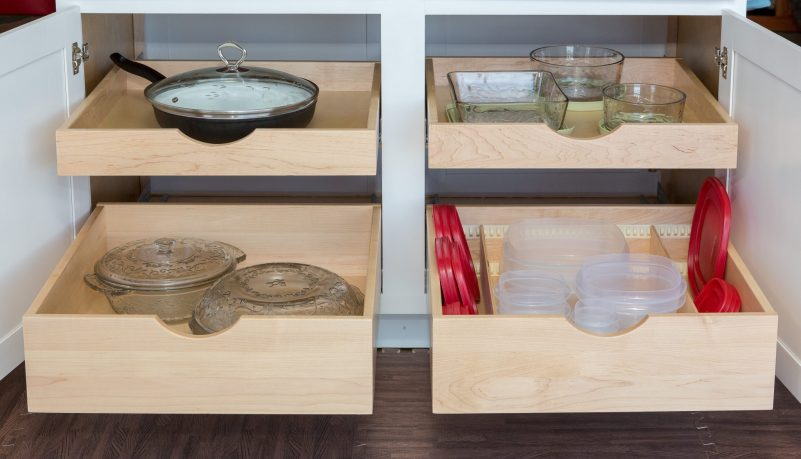 Keep your pots, pans, and tupperware within easy reach!