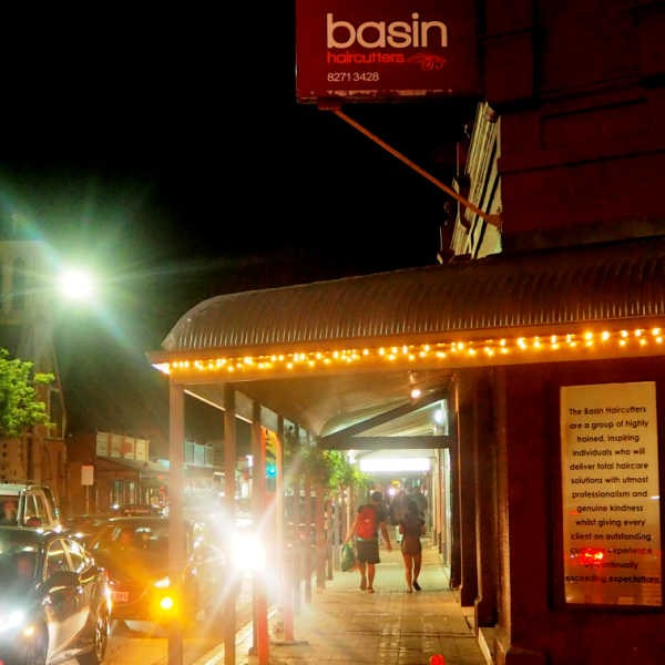 Outside of The Basin Haircutters
