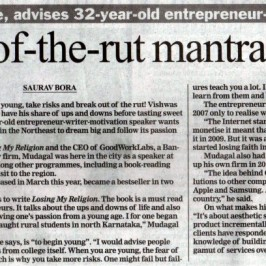 GoodWorkLabs in The Telegraph: Breaking Out Of The Rut Mantra For Success