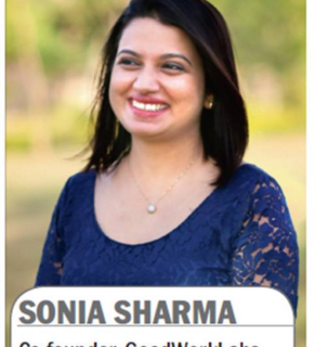 Sonia Sharma featured in Bangalore Mirror