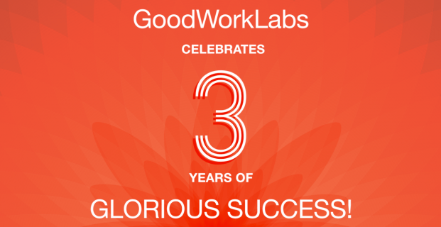 GoodWorkLabs celebrates 3 years of glorious success!
