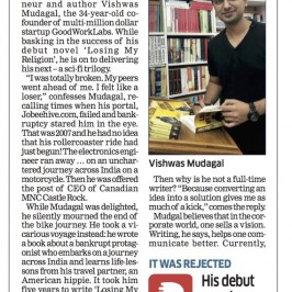 Economic Times features CEO Vishwas Mudagal: Straddling Books, Business, Bike Ride & Bollywood