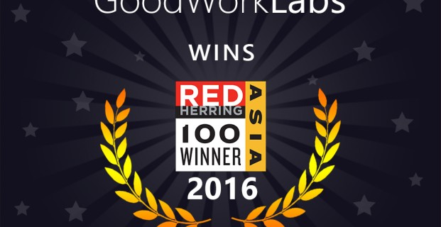 GoodWorkLabs Awarded Red Herring Asia Top 100 2016