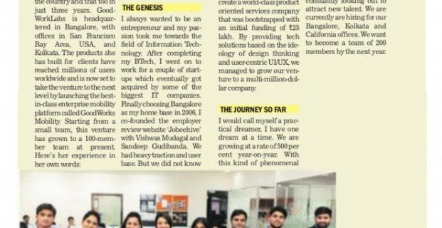 The Tribune: GoodWorkLabs one of the leading Outsourced Product Development Firms in India