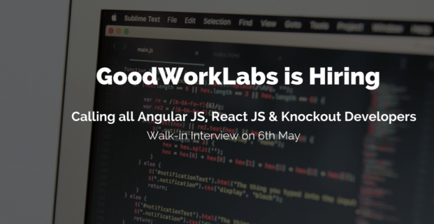 Hiring for Angular, React and Knockout Developers