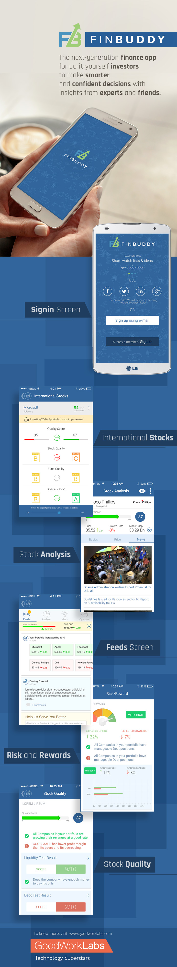 banking app developed by goodworklabs for FinBuddy