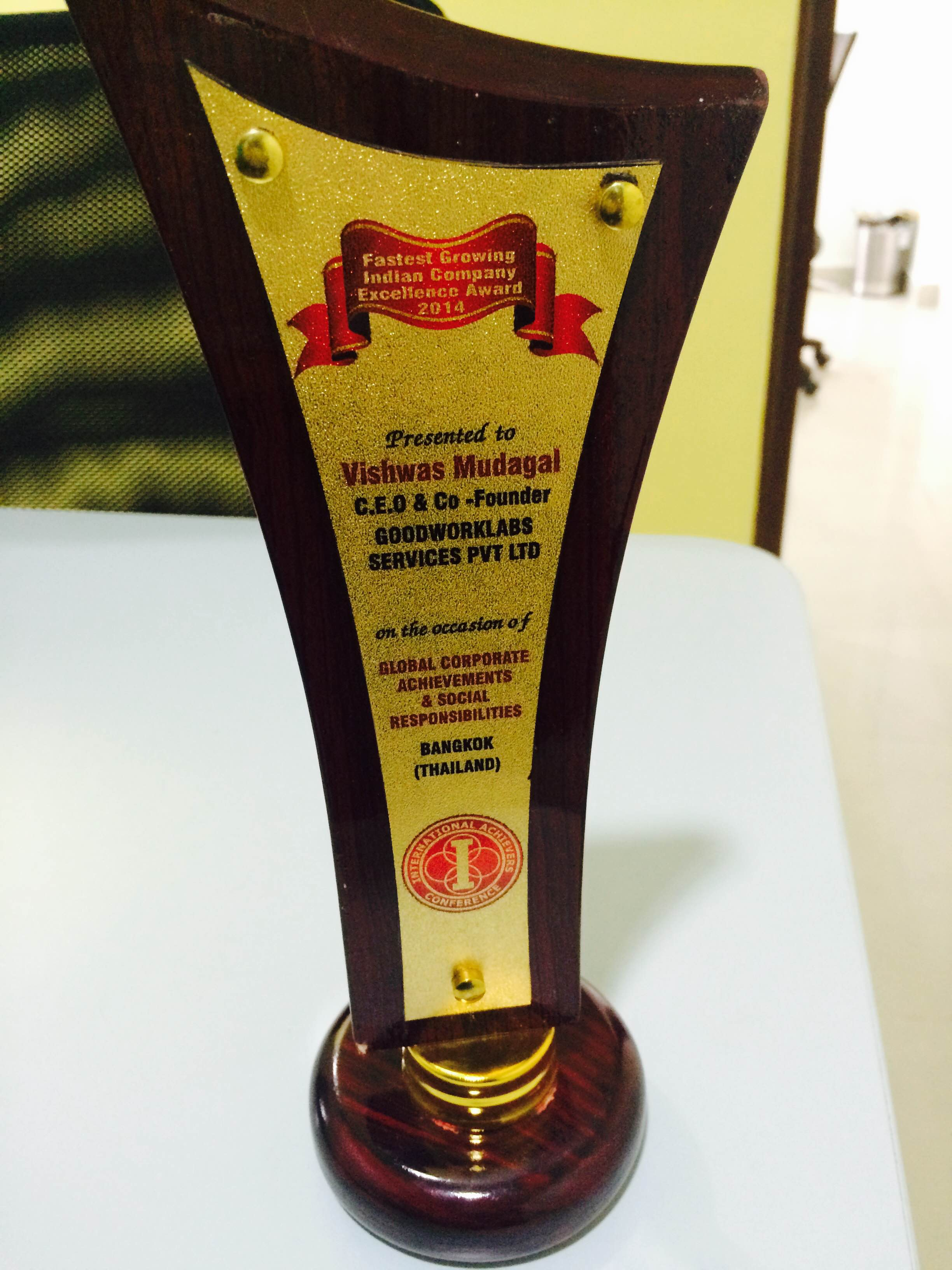 goodworklabs-fastest-growing-indian-company-award-2014