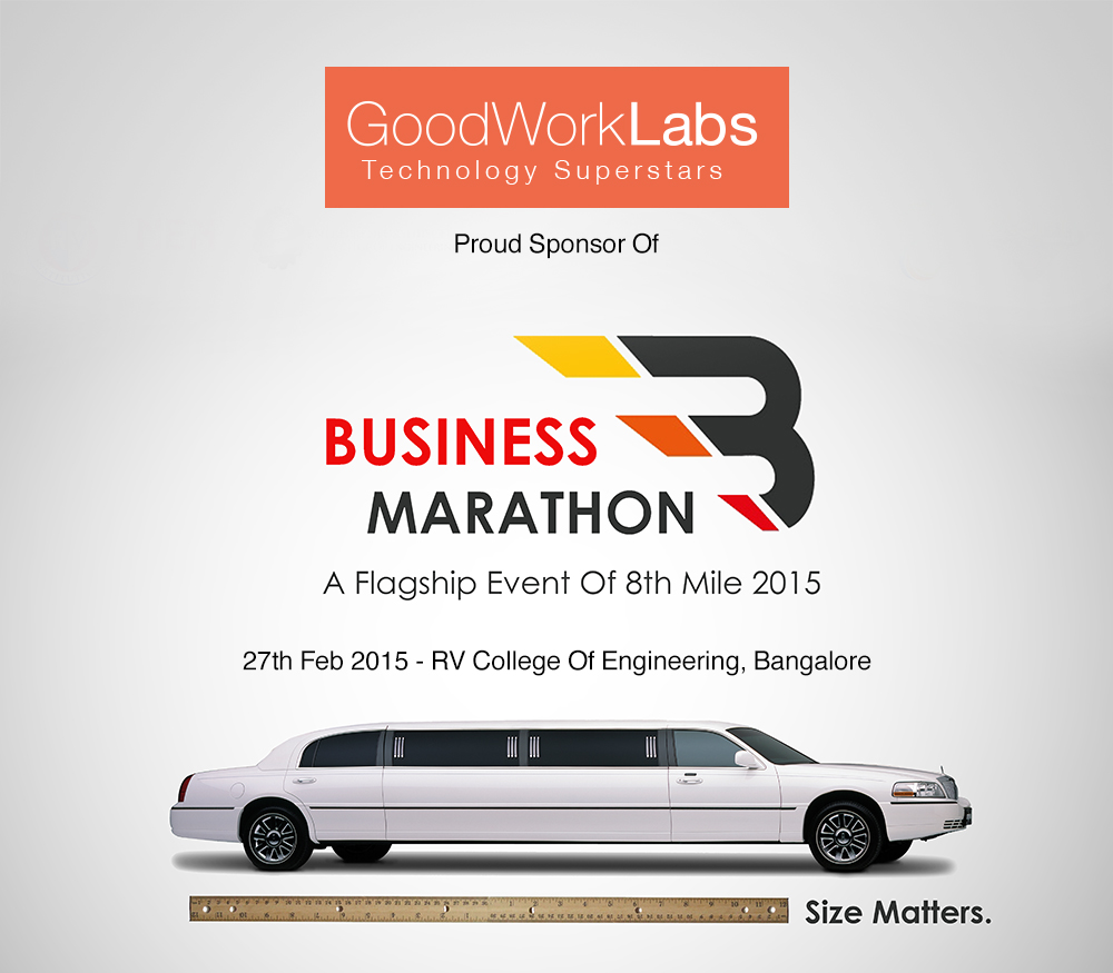GoodWorkLabs-sponsor- Business Marathon- RVCE 8th Mile '15