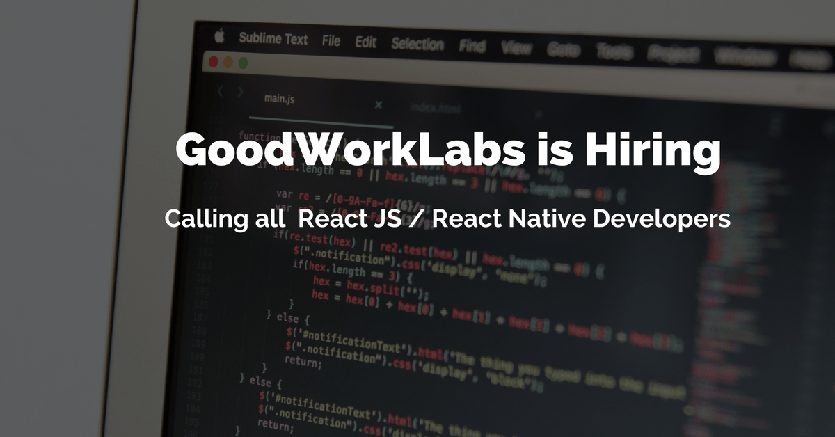 job for react developers