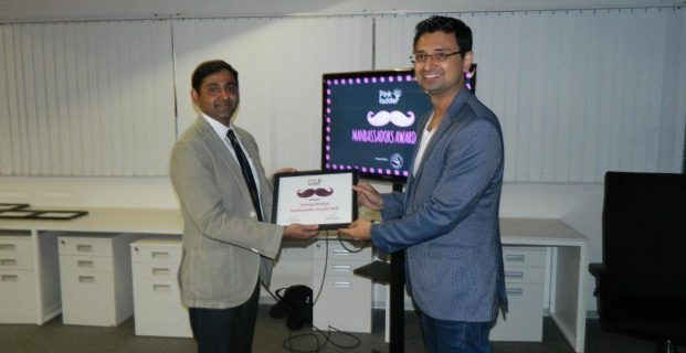 Vishwas Mudagal wins the Manambassador Award by Pink Ladder