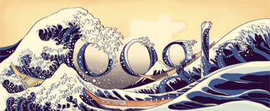 Birthday of Katsushika Hokusai - (Japan) logo google