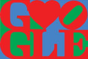Happy Valentine's Day from Google & Robert Indiana. Courtesy of the Morgan Art Foundation / ARS, NY