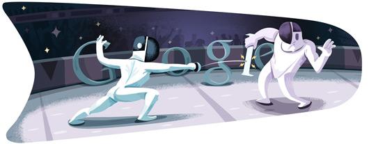 doodle esgrima londres 2012