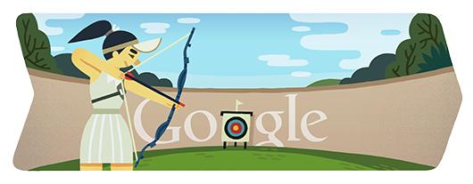 doodle tiro con arco londres 2012