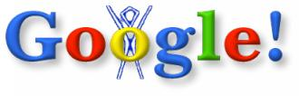 Primer logo modificado de Google