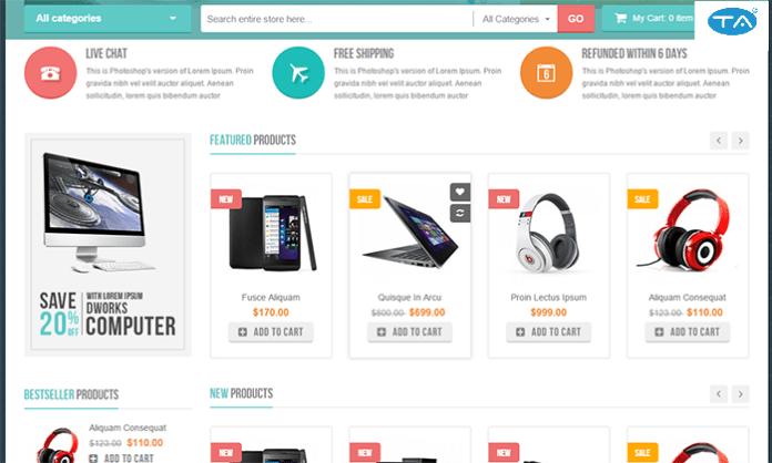 Dịch vụ thiết kế website bán điện thoại tại Thuận An