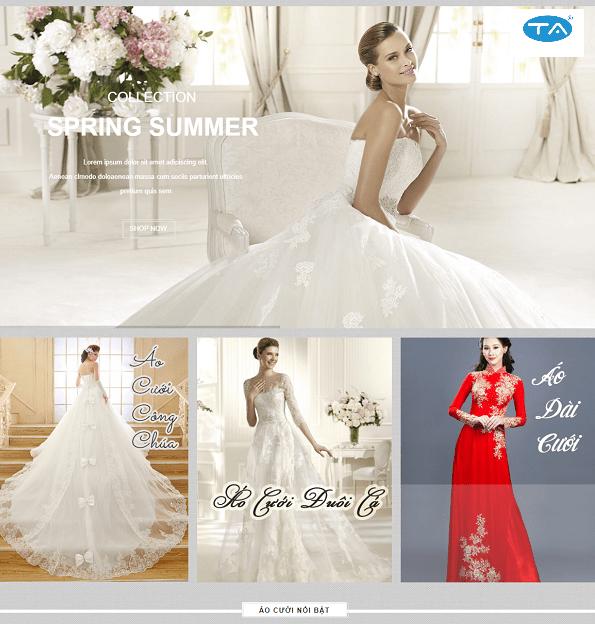 Thiết kế website ảnh cưới áo cưới tại Thuận An