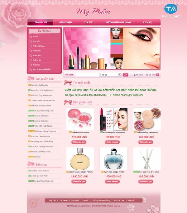 Tầm quan trọng của thiết kế website bán mỹ phẩm