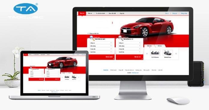 Thuận An nhận thiết kế website ôtô - xe máy giá rẻ, chuyên nghiệp