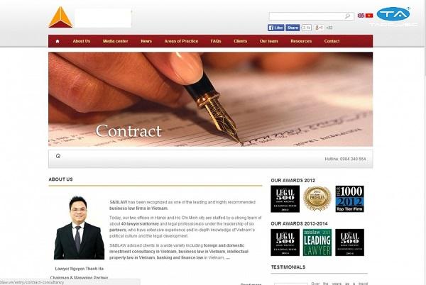 Giải pháp thiết kế website công ty luật tại Thuận An