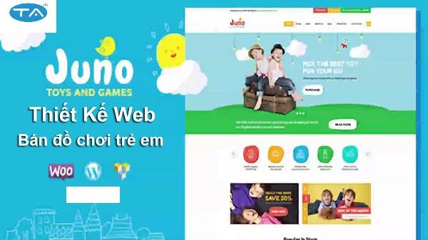 Dịch vụ thiết kế website đồ chơi trẻ em của Thuận An