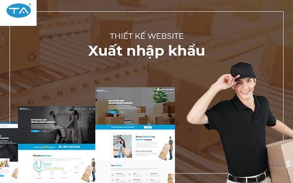 Thiết kế website xuất nhập khẩu tại Thuận An