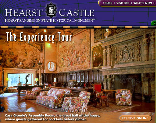 Recommended tour for first-time visitors of Hearst Castle