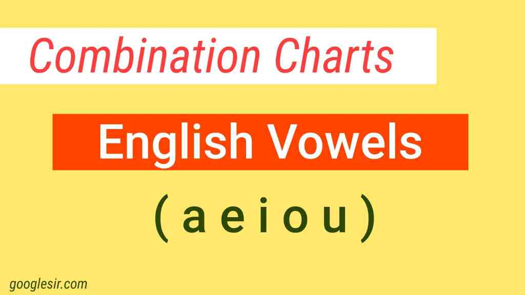 English Vowels combination charts