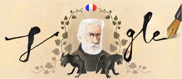 Google Doodle - Victor Hugo