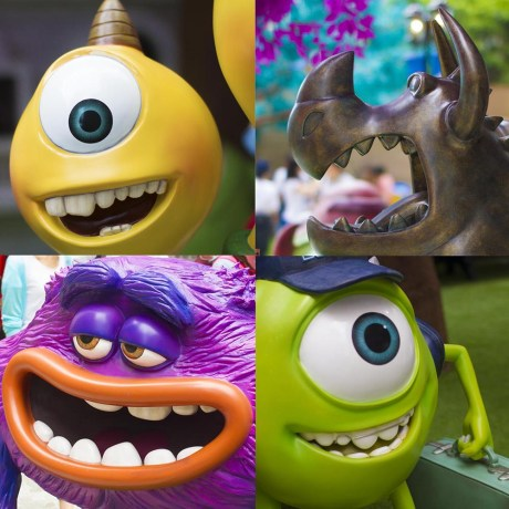 Monsters University Hong Kong Mike Wazowski, Terri, Art & Gargoyle