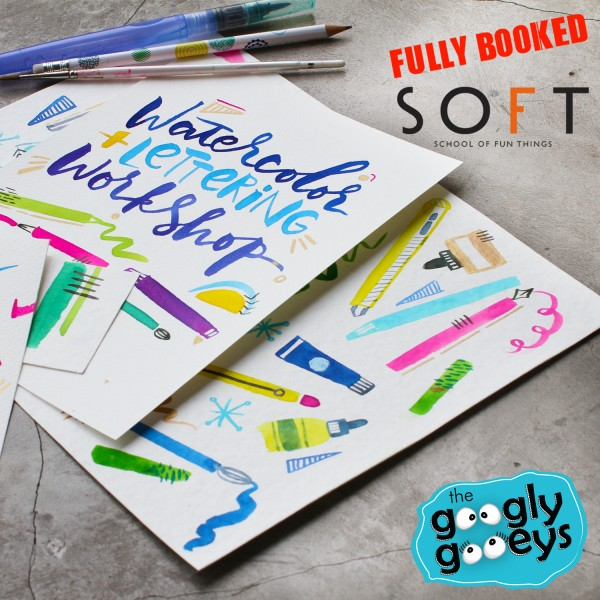 Fully Booked Watercolor Lettering Workshop