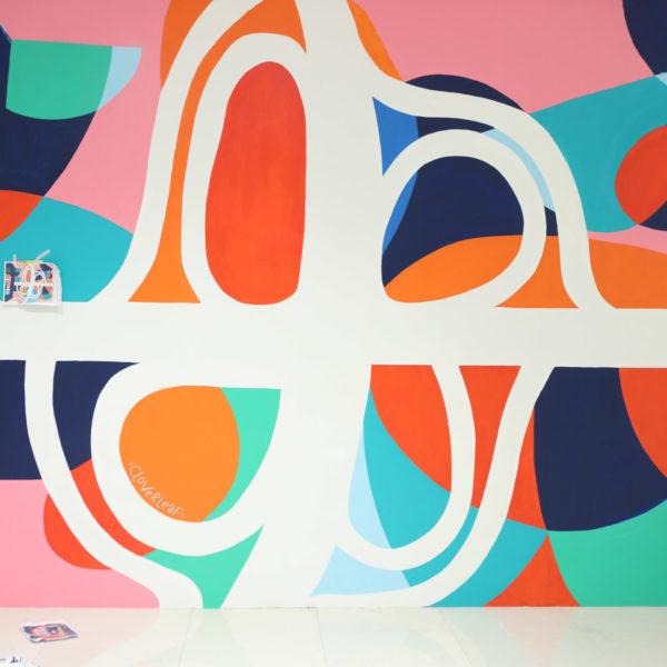 Ayala Malls Mural Cloverleaf Balintawak Abstract Art