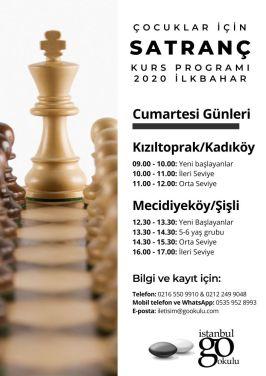 satranç kursu programı - çocuklar için