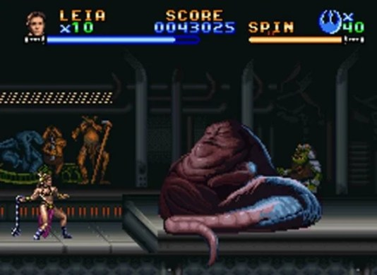 The Best of  Star Wars  on Nintendo  The SNES games   Goomba Stomp super return of the jedi e1450147979657