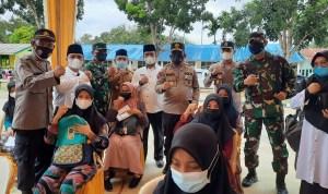 Kapolda Sumut dan Rombongan Meninjau Pelaksanaan Massal di Kabupaten Mandailing Natal