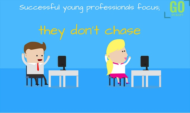 Successful young professionals focus