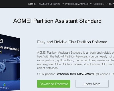 Creating Windows 8 to Go Boot Disk with AOMEI Partition Assistant 6.3