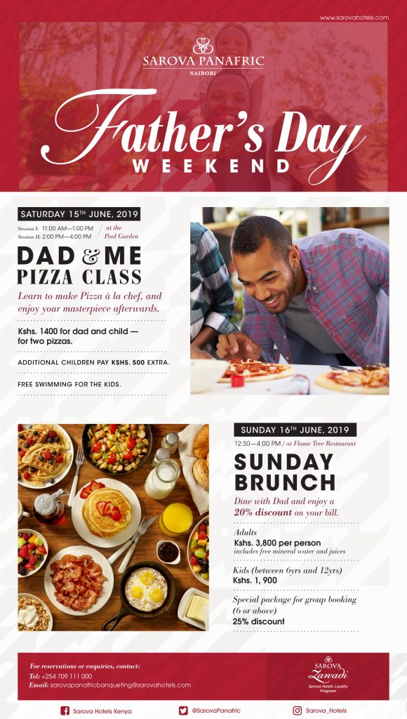 Father's Day Offers With Sarova Hotels - Go Places Digital
