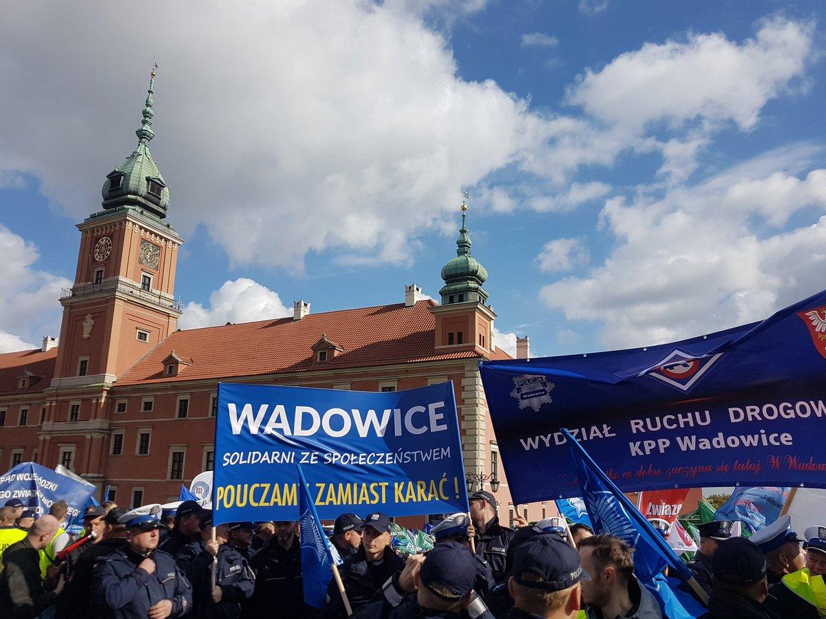В Варшаве бастуют 20 000 сотрудников силовых структур