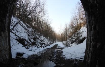 Туннель под Коварским перевалом становится зимней достопримечательностью