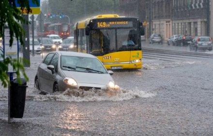 Злива у Катовицах. Фото