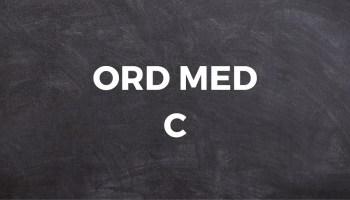 Ord med C - Stor liste med ord med C