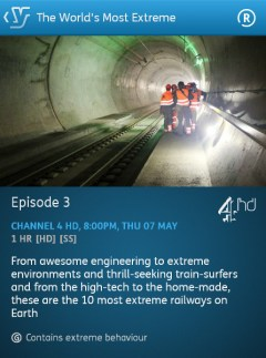 The World's Most Extreme: Railways - 02-05-2015 (YouView app)
