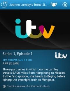 Joanna Lumley's Trans-Siberian Adventure (YouView app)