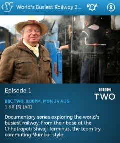 The World's Busiest Railway 2015 - 24/08/2015 (YouView app)