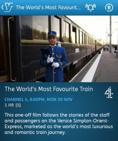 The World's Most Famous Train - 30/11/2015 (YouView app)