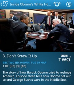 Inside Obama's White House - 29-03-2016 - YouView app