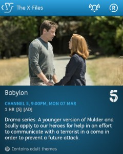 The X Files - 07-03-2016 - YouView app