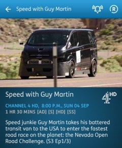 Speed with Guy Martin - 04-09-2016 - YouView app